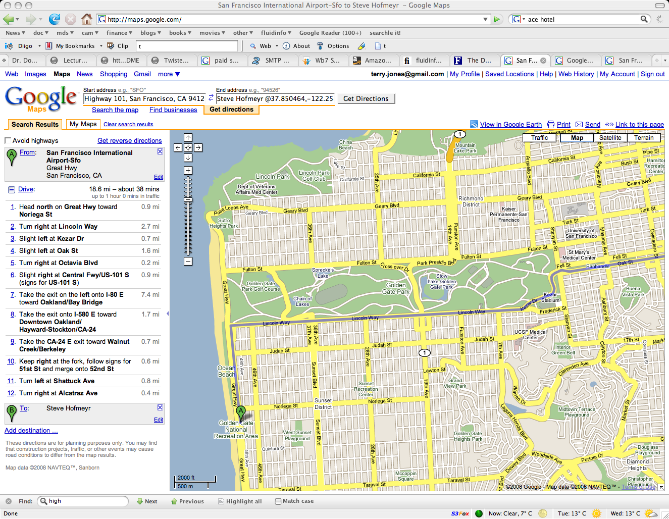 Terry Jones Blog Archive Google maps gets SFO location waaaay – Google Map Travel Directions